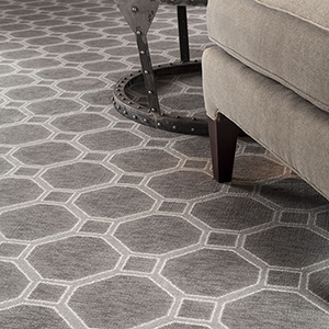 Pattern carpet in living space