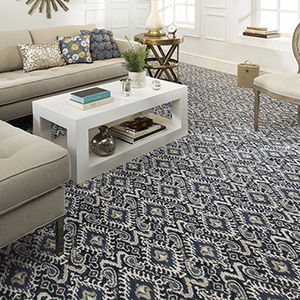 Pattern carpet in living room
