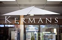 Kermans Flooring showroom window signage